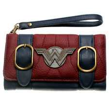 DC Comics Wonder Woman Double Buckle Wallets Tri Fold Flap Wallet PU Purse New