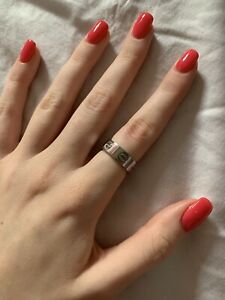 Sterling Silver Ring In The Style Of Cartier Love Ring