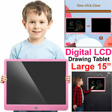Large 15 Inch Electronic Kids Digital LCD Writing Tablet Drawing Doodle Board UK