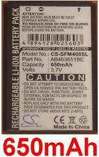 Batteria per SAMSUNG Preston S5600, S3650 Corby, S5550 Shark 2 650mAh