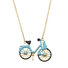 Enamel Bicycle Pendant Necklace Charm Alloy Chain Unisex Jewelry Adjustable