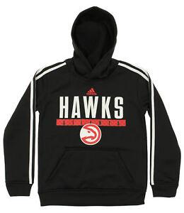 Adidas NBA Youth Atlanta Hawks Playbook Pullover Hoodie, Black