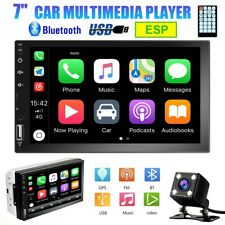 """7"""" 2DIN Car Stereo Radio D-Play Touch Screen BT USB MP5 Player Head Unit +Camera"""