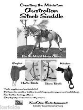 Australian Stock Saddle for Model Horses Pattern Book
