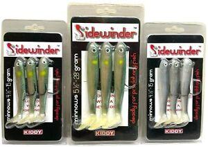 "SIDEWINDER MINNOWS 4 1/2""-15g / 5 1/2""-28g , QUALITY SEA FISHING JIG HEAD LURES"