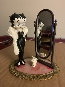 Official Betty Boop & Dog China Figurine Looking Into Mirror