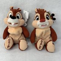 Set 2 Chip N Dale Plush Disneyland Walt Disney World Mouseketoys Bean Bag Plush