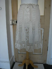 New Vintage cream / ivory / white cotton crochet A line skirt S