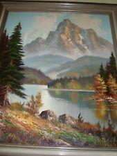 """Sehr schönes altes Öl-Bild Öl- Gemälde - Hand Signiert - """"Am Bergsee"""""""