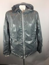 Kuhl Womens Pertex Aerosoft Sz L Gray Lined Hooded Jacket Polyester Primaloft