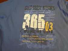 "Gold Coast Beaches  ""Surfers Paradise""  Caribbean Joe Blue T Shirt   Large   L20"
