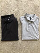 Camisas Polo Adidas 2x Para Hombre Negro Gris Medio Paquete
