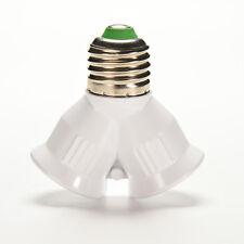 Screw E27 LED Base Light Lamp Bulb Socket 1 to 2 Splitter Adapter Converter hhf