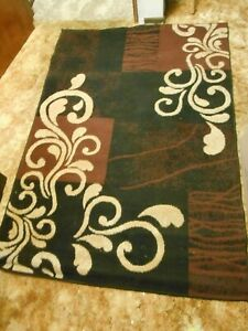 AREA RUGS - 2 - BROWN AND CREAM - 1 square and 1 runner