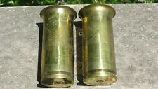 WW2 US Theater Made TRENCH ART VASE SET NEW GUINEA JAPANESE SHELLS