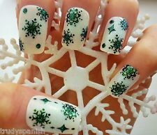 Christmas Black Snowflakes & Snow Balls Design 3D Nail Art Stickers Decals (511)