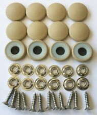12 Dura Snap Upholstery Buttons Parchment Tan Choice Of Size And Screws