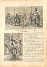 Paris dépôt des marbres statue François Ier Palais de l'Industrie GRAVURE 1894