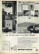 E- Publicité Advertising 1965 Mobilier Meubles de cuisine Arthur Martin