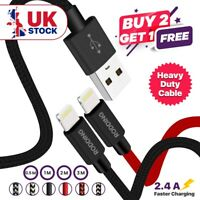 Heavy Duty USB Charger Sync Charging Wire Cable Lead for iPhone 11 XR XS 8 7 6s