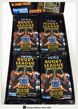 1994 Dynamic Rugby League Trading Cards Series (1) 4-Sealed Pack Unit