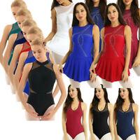 Women's Ladies Lyrical Contemporary Ballet Dance Dress Leotard Skating Costume