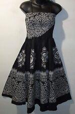 Dress Fits L XL 1X 2X Plus Sundress Black White Celtic Design Empire NWT 1104 KK