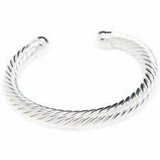 Bracelet Jonc torsadé en argent, style bracelet africain pour homme.