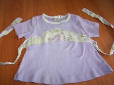 Sz 4T Girls BABY NAY Lavender Mint Green Top Boutique s/s Cotton Knit NWOT ties