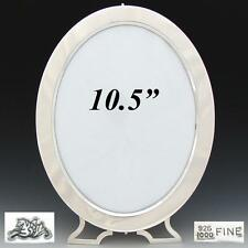 "Antique American Sterling Silver 10.5"" Oval Picture Frame, New York c. 1887-1903"