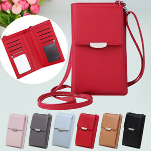 Women's Girl Wallet Purse PU Leather Coin Cell Phone Mini Shoulder Crossbody Bag