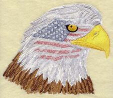 """Eagle & American Flag, USA,  Birds of Prey, Embroidered Patch 7.8""""x 6.6"""""""