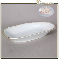Piatto antico Richard Ginori in ceramica bianca e filo oro vecchio vassoietto