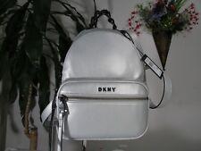 NWT DKNY Abbey Backpack Silver