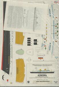 Wilhelmshavener Modellbaubogen Fahrgastmotorschiff Europa 1:250