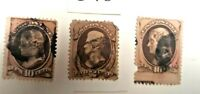 Older used US stamps  Lot # C-78 faults Oddity stamp