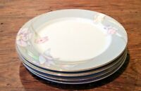 "MIKASA CHARISMA GRAY LOT OF 4 VTG SALAD DESS PLATES 7-1/2"" DISC '93 #L9049 EUC"
