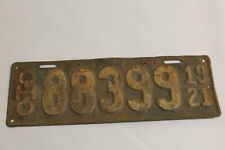 VINTAGE ANTIQUE 1921 OHIO LICENSE PLATE TAG