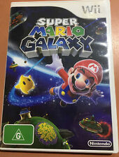 Super Mario Galaxy - Nintendo Wii Game PAL Tested -with Manual