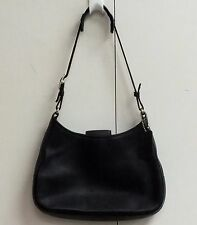 Coach Hobo Shoulder Bag Legacy Black Glove Leather 8319 Small Purse Classic