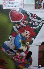Bucilla Christmas Morning RAGGEDY ANN Felt Stocking Kit Girl RARE Factory Direct