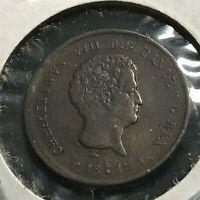 1842-FF DENMARK 1/5 RIGSBANKSKILLING COIN HIGH GRADE