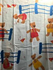 new Susan Baum Design Vtg 80s GEAR BEAR Fitted Twin Size Sheet by Springmaid