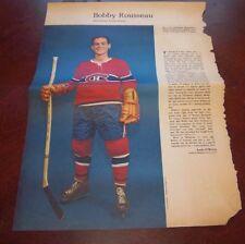 Bobby Rousseau # 1 issue Weekend Magazine Photos 1963 -1964 Toronto Star  # 2