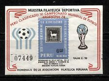 WORLD SOCCER CUP - ARGENTINA ON PERU 1978, PRIVATE SHEET WITH Scott 613, MNH