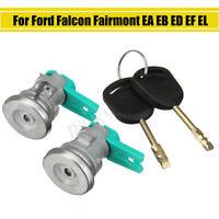 2x Door Lock Cylinder with 2 Keys For Ford Falcon Fairmont EA EB ED EF EL AU