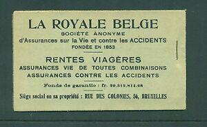 Belgium 1914 2F50 La Royale bridge  Booklet