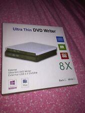 Ultra Thin External USB 3.0 DVD Writer Drive for MAC and Windows 8