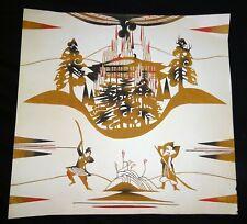 1954 Japanese Woodblock Print Tale of Heike by Inagaki Toshijiro (1902-1963)(Fuj
