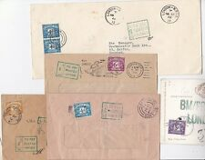 * 1954/66  5 GB POSTAGE DUE COVERS  3d 4d 5d 6d & 8d IN POSTAGE DUE STAMPS ADDED
